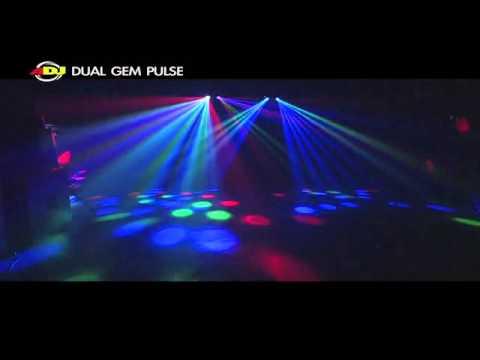 American DJ Dual Gem Pulse LED Moonflower / Strobe Disco Light @ AstoundedDotCom