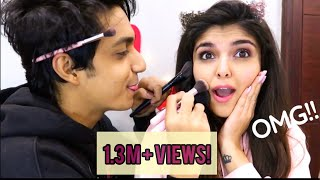 MY BFF DOES MY MAKEUP!! *HILARIOUS*