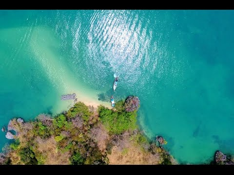 Drone video over Phang Nga Bay, Phuket, Thailand