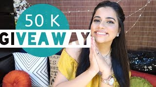 50 K GIVEAWAY 💃🎊🎉| Bags, Gift cards & Surprise Goodies | Sana K