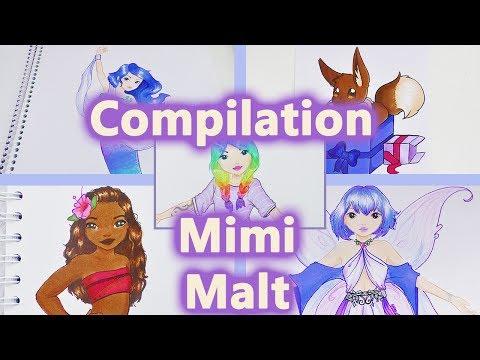 Mimi Malt Compilation | Meerjungfrau, Fee und Regebogen Mädchen im Topmodel Malbuch