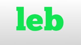 leb meaning and pronunciation