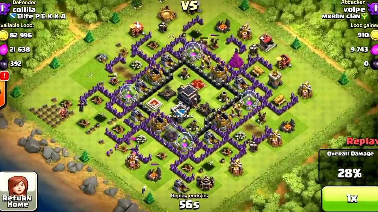Th9 Home Base Design Part - 29: Th9 100%winning Anti Hog Base(replays)design! - YouTube