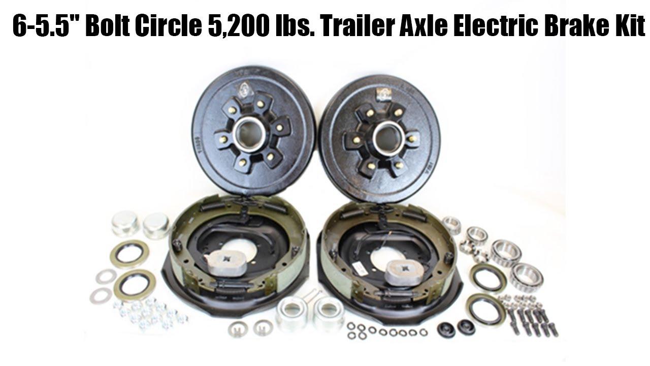 5.5 Bolt Circle Brake Drum for 5,200 lb Axle Southwest Wheel 6-hole