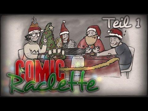 1/8] Festtagsstündchen   Comic Raclette mit Bell, Dennis, Alvin ...   {Kochschule comic 15}