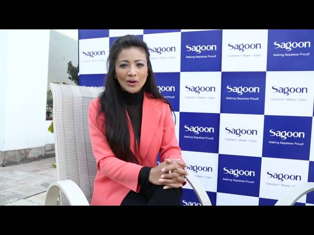 Evana Manandhar Miss Nepal World 2015  at  SagoonV2 launching program - YouTube