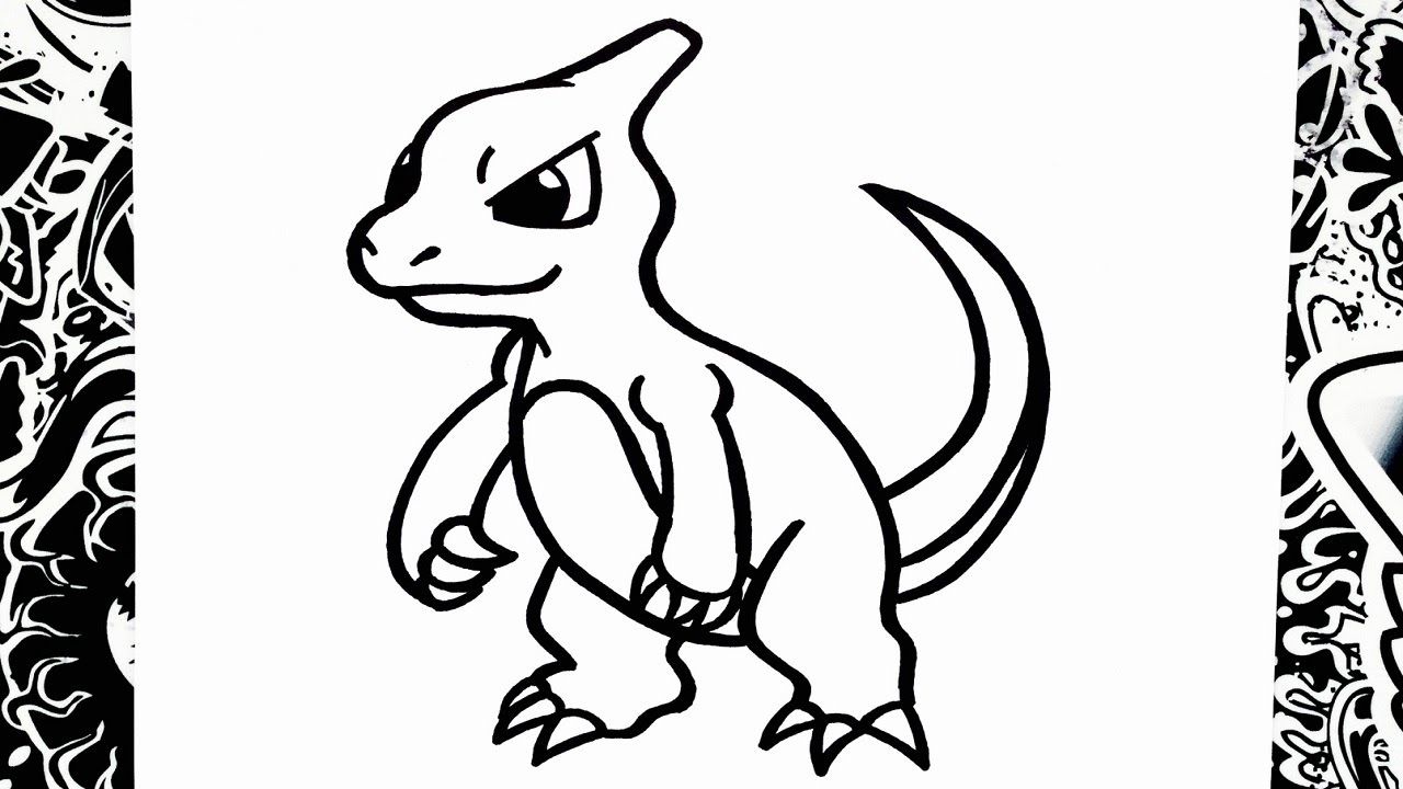 How To Draw Charmeleon - YouTube