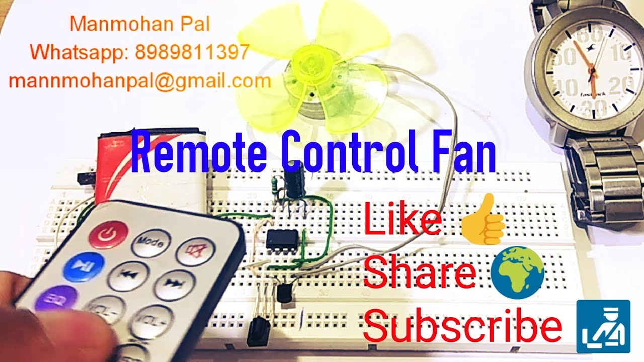 Remote Control Fan Ir Circuit Using Ic 555 Timer By Infrared Transmitter Receiver Schematic Diagram Tsop1738