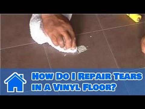 Vinyl Flooring Maintenance & Cleaning : How Do I Repair Tears in a Vinyl Floor?