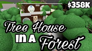 TREE HOUSE IN A FOGGY FOREST (358k) | Bloxburg Speedbuild | Roblox