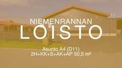 Nastarakennus Niemenrannan Loisto asunto A4 2h+kk+s 50,5 m2 esittelyvideo