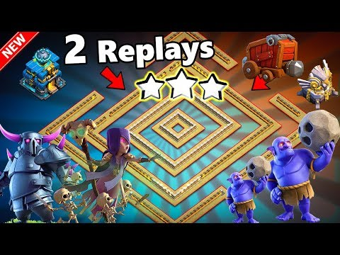 TH12 WAR BASE 2018 ANTI 0 STAR With 2 Replays Anti Max BoWitch,Pekka,Anti Queen Walk PROOF!!!