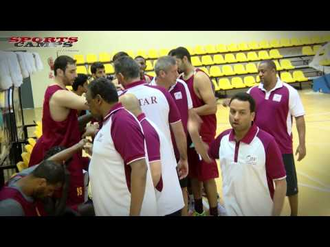 Qatar men's national basketball team camp in Lithuania