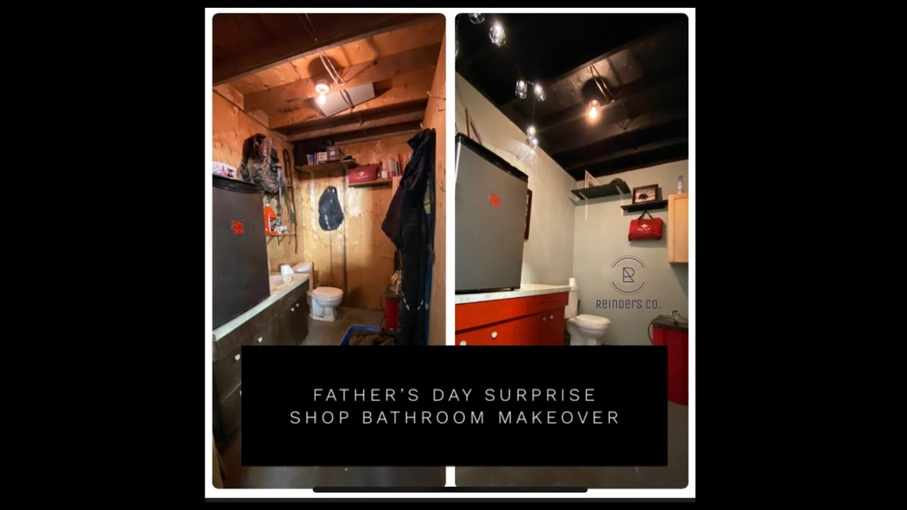 Shop Bathroom Makeover Father's Day Surprise 24 hour project