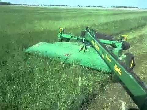 2012 John deere 956 moco jd7810  Cutting alfalfa