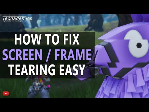 How To Stop Screen Tearing Easily 2018 | Fix V-Sync in Games