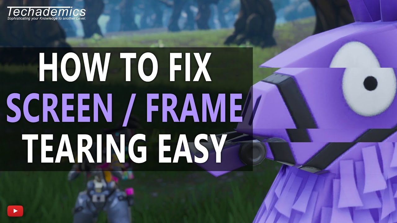 How To Stop Screen Tearing Easily 2019 | FIX V-Sync in Games