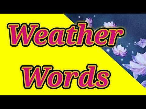 Weather words Class-3rd,Sub-Eng,page-60 Created by-Godavari Tambekar