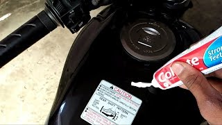 how to remove scratches with Colgate on bike    Really work or not??   MR.AUTOMOBILER