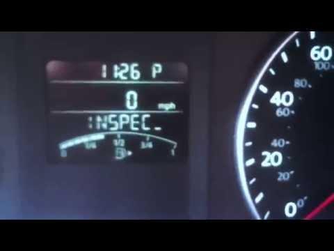 HOW TO: Reset INSPEC light 2014 Volkswagen Jetta