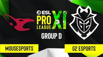 CS:GO - G2 Esports vs. mousesports [Train] Map 2 - ESL Pro League Season 11 - Group D