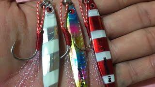 Rock fishing new light jig testing