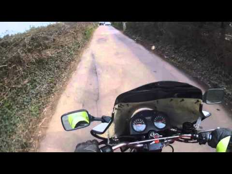 GitUp Git 2 Action Camera external microphone test Motorcycle Ride