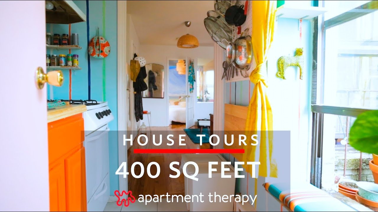 A 400 Square Foot Apartment Filled With Color And Clever Diys House Tours Therapy