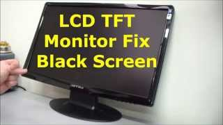 LCD TFT monitor fix, black screen, no display