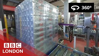 How Coca-Cola gets made, in 360° - BBC London