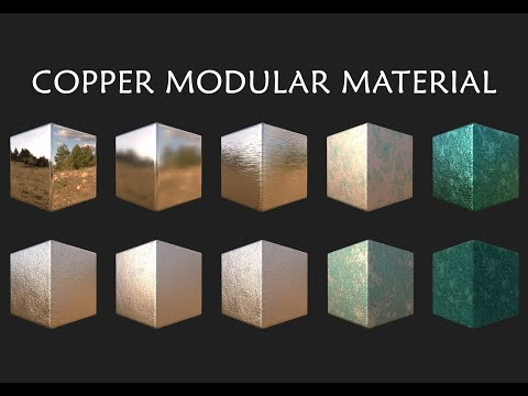 Copper with Oxidation Modular Material - Substance Designer