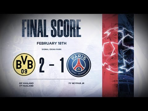 FIRST LEG : DORTMUND 2-1 PARIS SAINT-GERMAIN