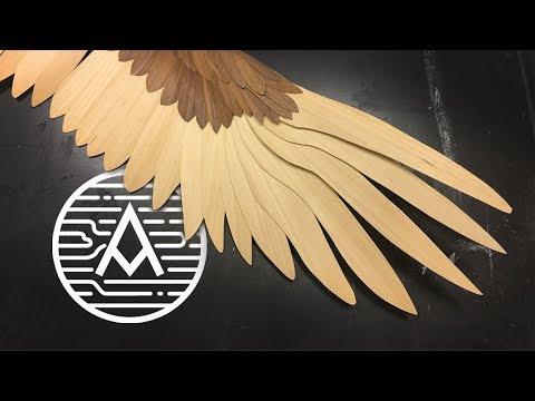 Giant Wood Bird Wing -- Sculpture