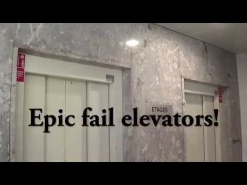 Epic Fail !!! Two news Schindler elevators in an old building @ Geneva, Switzerland