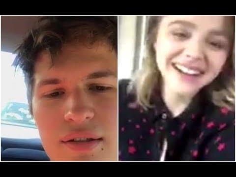 Ansel Elgort & Chloe Moretz | Instagram Live Stream | 7 December, 2017