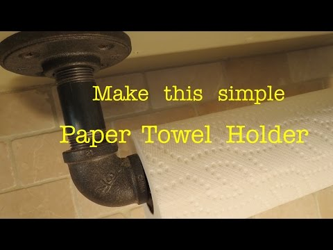 Paper Towel Holder Hack ● Using Plumbing Pipe ( actually works ! )