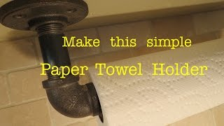 How To Make A Sturdy Paper Towel Holder