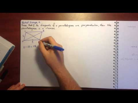 Specialist Maths 5.5 Vector Proofs Using The Scalar Product