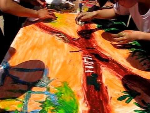 THPT di linh 12A2 | 27-3-2010 Thi ve tranh