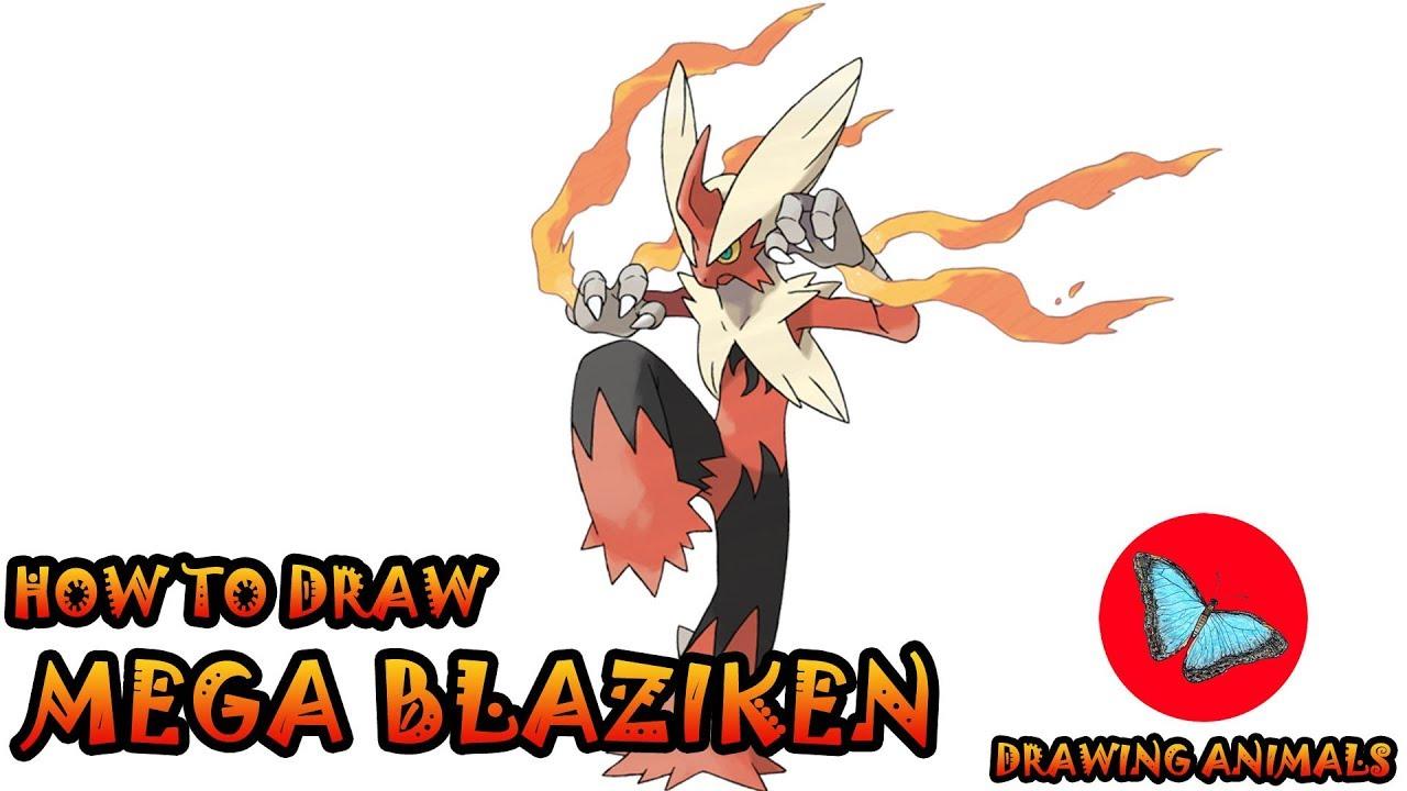 How To Draw Mega Blaziken Pokemon | Drawing Animals