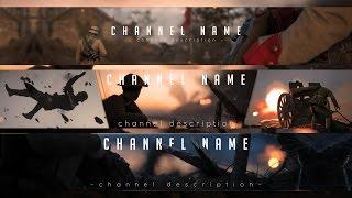 XXL Battlefield 1 Banner Channel Art Template (Speedart)