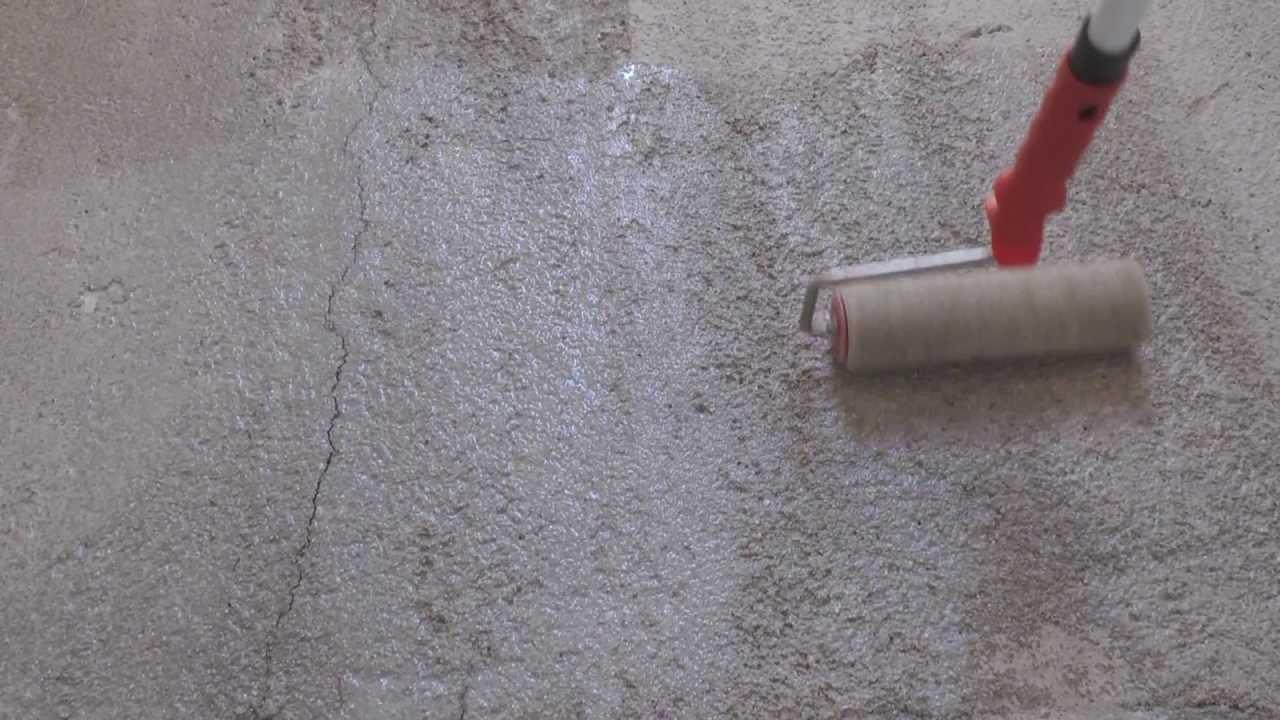 Pittura Per Cemento Armato : Atriafloor consolidante applicazione su cemento youtube