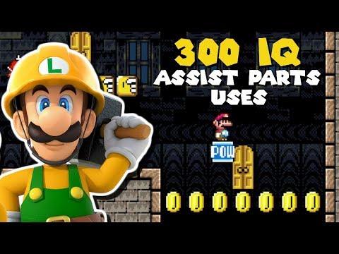 25 Ways to Have Fun with Luigi's Assist Parts - Super Mario Maker 2
