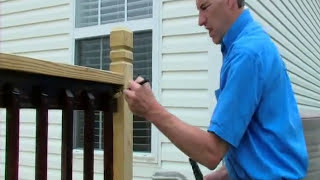 How to apply stain to deck spindles- One TIME Wood Protector