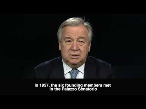 UN message on the 60th Anniversary of the EU