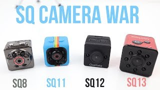 sQ13 Camera vs SQ12 vs SQ11 vs SQ8 Mini Cameras