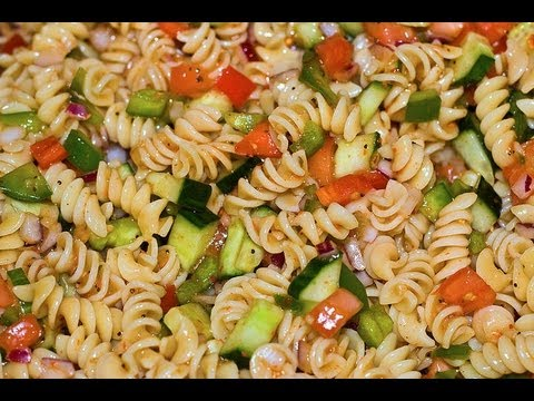 Italian Dressing Pasta Salad Healthy Dish How To Make