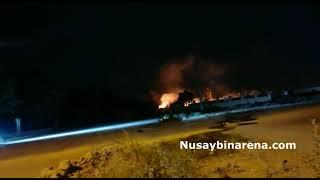 Nusaybin Eski Sınır Kapısında Korkutan Yangın