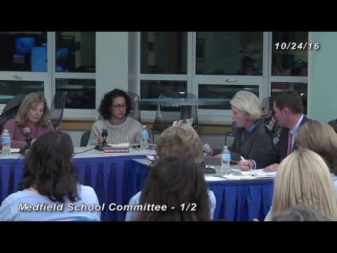 School Committee (10-24-1016): Public inputs; Student Advisory Council; Opening of School Report