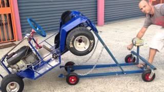 Race mower lift/work stand
